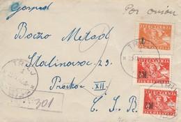 Yugoslavia 1946 Letter Trilj - Czechoslovakia - Lettres & Documents