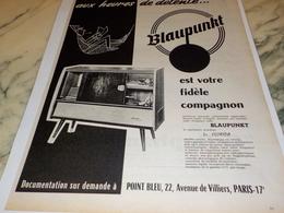 ANCIENNE   PUBLICITE LE FLORIDA  BLAUPUNKT  1960 - Radio & TSF