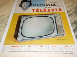 ANCIENNE PUBLICITE TELEVISION TELEAVIA  1960 - Television