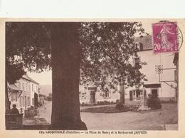 LOCQUENOLE  La Place Du Bourg Et Le Restaurant Jaffrès - Autres Communes