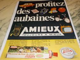 ANCIENNE PUBLICITEMOUSSE DE FOIE DE PORC EN TUBE AMIEUX ET FRERES 1969 - Affiches