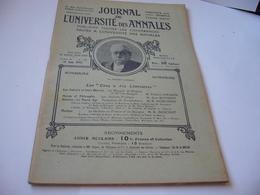 JOURNAL DE L'UNIVERSITÉ DES ANNALES NO 13 15 JUIN 1912 LE MARQUIS DE GRIGNAN ET MNE DE SÉVIGNÉ TROUVÈRES ET TROUBADOURS - Sin Clasificación