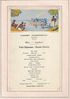 Ancien MENU De 1937 Paquebot ELISABETHVILLE - Menus