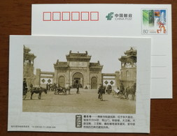 Buddhist Buildings Blissful Temple,carriage,Mule Carts,China 2013 History Memory Of Harbin Advertising Pre-stamped Card - Buddhism