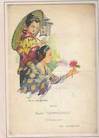 Ancien MENU De 1936 Paquebot LEOPOLDVILLE - Menus