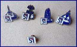 Lot 5 Pin's PASTIS 51 - Badges