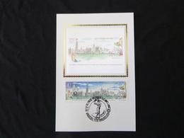 """BELG.1993 2495 Mcard Soie/zijde : """"Antwerpen Culturele Hoofdstad/ Capitale Culturelle D'Anvers"""" - FDC"""