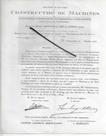 28 - Eure-et-loir - CHATEAUDUN - Facture CONSTRUCTEUR DE MACHINES DE TANNERIE, CORROIERIE, MEGISSERIE- 1923 - REF 290 - France