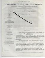 28 - Eure-et-loir - CHATEAUDUN - Facture CONSTRUCTEUR DE MACHINES DE TANNERIE, CORROIERIE, MEGISSERIE - 192? - REF 290 - France