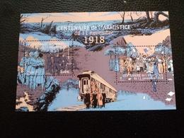 FEUILLES DE 2 TIMBRES CENTENAIRE DE L'ARMISTICE DU 11 NOVEMBRE 1918 - Blocs & Feuillets