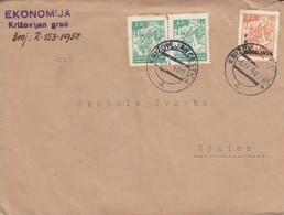 Yugoslavia 1950 Letter  Rare Postmark KRIŽOVLJAN CESTICA From WWII NDH Period - Lettres & Documents