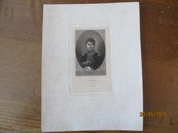 F. A.  RUFFIN  NE A BOLBEC (SEINE INFERIEURE) EN 1771 MORT EN 1811  13cm/8cm  FEUILLE 25cm/19cm - Vieux Papiers