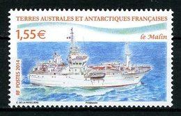 TAAF 2014  N° 691 ** Neuf MNH Superbe Bateaux Navire Patrouilleur Le Malin Ships Transports - Franse Zuidelijke En Antarctische Gebieden (TAAF)