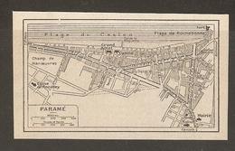 CARTE PLAN 1930 - PARAMÉ - GRAND HOTEL CENTRAL - CASINO CHAMP DE MANOEUVRES ÉGLISE ROCABEY - Cartes Topographiques