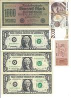 GERMANIA ALEMANIA GERMANY Usa Italy Italia 5 Notes LOTTO 2418 - [ 4] 1933-1945 : Terzo  Reich