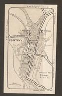 CARTE PLAN 1930 - PONTIVY - PRINCIPAUX HOTELS - HOTEL CENTRAL HOTEL DE LA GARE - Mapas Topográficas