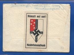 Enveloppe  Avec Grande Vignette REISCHSKOLONIALBUND Oblitération:ÖHRINGEN 4/9/1941 - Germany