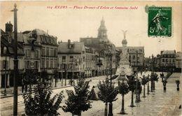 CPA Reims - Place Drouet-d'Erlon Et Fontaine Sube (741892) - Reims