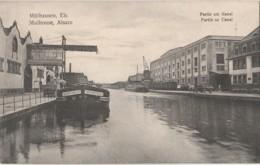 N16-68) MULHOUSE (ALSACE) PARTIE AU CANAL - PENICHE VORFHRTSRECHT - 2 SCANS - Mulhouse