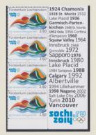 Liechtenstein 2014 Sochi Olympic Games Four Stamps W/Margin Imprint MNH/** (H61) - Winter 2014: Sochi