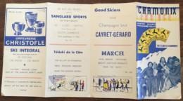 1938 / 1939 CHAMONIX FRANCE SKI CLUB DE CHAMONIX  N13 - Tourism Brochures