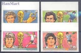 Guinea 1986 MNH ( ZS5 GUR1134-1137B ) - Coppa Del Mondo