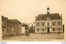 Promotion Club 2 X Cpa 45 CHÂTILLON-COLIGNY. Poste Avec Hôtel De Ville Et Tour Murs Jardin Becquerel - Chatillon Coligny