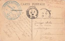 Cachet Militaire Guerre 1914 1918 Groupe Artillerie Marocaine 3eme Section Batterie Oddou 1917 Maroc Marocain - Poststempel (Briefe)