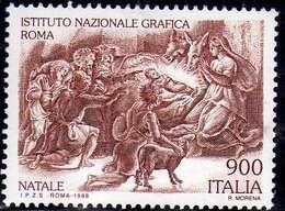 ITALIA REPUBBLICA ITALY REPUBLIC 1998 NATALE CHRISTMAS NOEL WEIHNACHTEN NAVIDAD NATAL ADORAZIONE DEI PASTORI LIRE 900MNH - 1991-00:  Nuovi