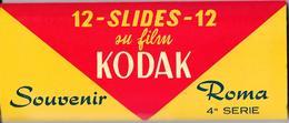 Belle Pochette Cartonnée KODAK Contenant Une Série Complète  De 12 Diapositives Souvenir Roma 4a Série - Diapositives