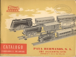 Catalogue PAYA 1940 Hermanos Ferrocarriles Mecanicos Y A Pila  - En Espagnol, En Français Et En Anglais - Boeken En Tijdschriften