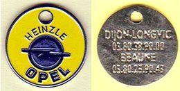 "JETON DE CADDIE "" OPEL - HEINZLE "" DIJON-LONGVIC - BEAUNE (SCANN RECTO-VERSO) [B]_J516 - Trolley Token/Shopping Trolley Chip"