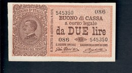 2 Lire Vitt. Em. III° Serie 086 1917 R2 Q.fds  LOTTO 465 - Italia – 2 Lire