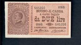 2 Lire Vitt. Em. III° Serie 086 1917 R2 Q.fds  LOTTO 465 - [ 1] …-1946 : Royaume