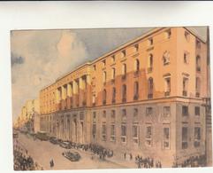 Palazzo Della Direzione Generale Del Banco Di Napoli, Cartolina Data Dallo Sportello Bancario Alla XIX  Fiera Di Bologna - Banks