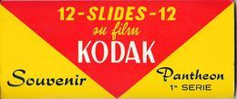 Belle Pochette Cartonnée KODAK Contenant Une Série Complète  De 12 Diapositives PANTHEON 1a Série (ROMA) - Diapositives