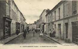 SAINTE HERMINE (Vendée) La Grande Rue Vers Le Centre Animée Commerces RV - Sainte Hermine