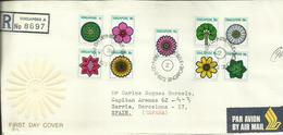 SINGAPORE 1973 REGD FDC - Singapore (1959-...)