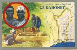 Chromo Produits Du Lion Noir 14 X 9 Cm DAHOMEY Colonies Françaises - Otros