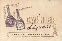 Buvard Liqueurs GARNIER Liqueur D'or Abricotine ENGHIEN Paris - Liqueur & Bière