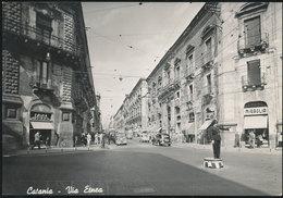 CATANIA - VIA ETNEA CON VIGILE URBANO 1955 - Catania
