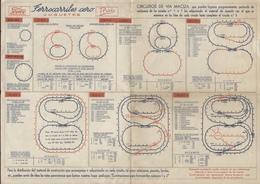 Catalogue PAYA 1920-30s RAI - Ferrocarriles Cero Spur O Circuitos - En Espagnol - Boeken En Tijdschriften