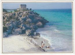 Tulum, Q. Roo,, México - Templo Del Dios Descendente - (Mayan Site At The Caribbean) - México