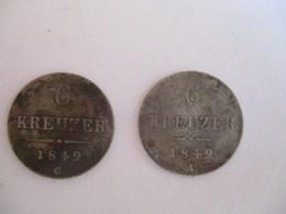 Austria: 6 Kreuzer 1849 A + 1849 C - Autriche