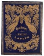 ETIQUETTE CHATEAU LAFITE BORDEAUX FIN XIXEME  / RAISIN VIGNE FEMMES  C343 - Bordeaux