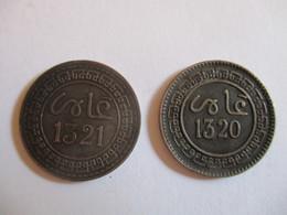 Maroc: 5 Mazounas 1320 + 1321 (1903) - Maroc