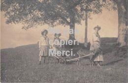 CHEVRE (ATTELAGE)  CARTE PHOTO - Deutschland - Ca. 1910 - Animaux & Faune