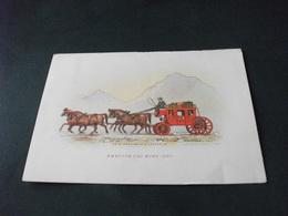 CARROZZA TRAINATA DA 4 CAVALLI HORSE AMERICA DEL NORD 1790 - Cartoline