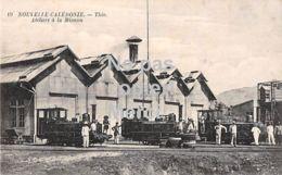 Nouvelle Calédonie - Thio - Ateliers à La Mission - Avec 3 Chemins De Fer - Nouvelle Calédonie