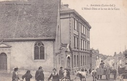 44-ANCENIS L HOTEL DIEU ET LA RUE DE LA GARE - Ancenis